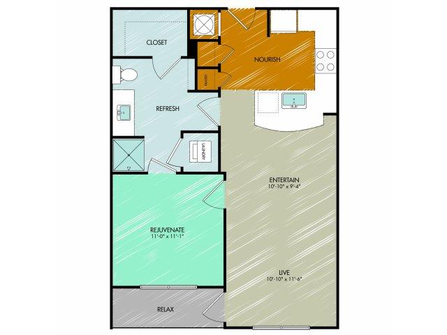 Floor Plan 5 | 909 Flats