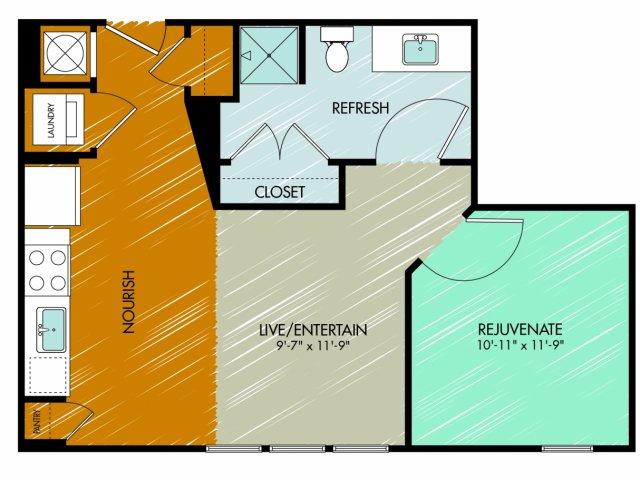 Floor Plan 16 | 909 Flats