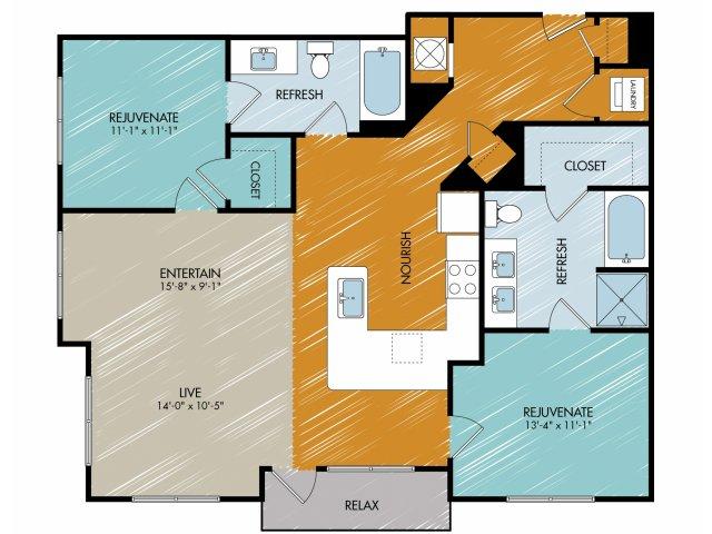 Floor Plan 20 | 909 Flats