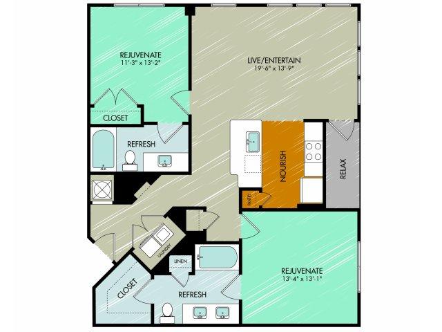 Floor Plan 25 | 909 Flats