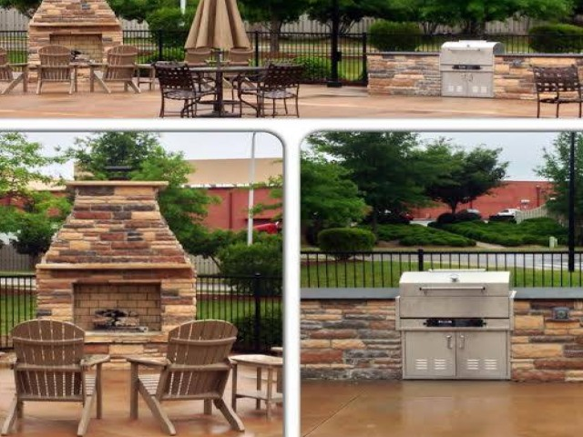 Image of Outdoor Fireplace for Greystone at Widewaters