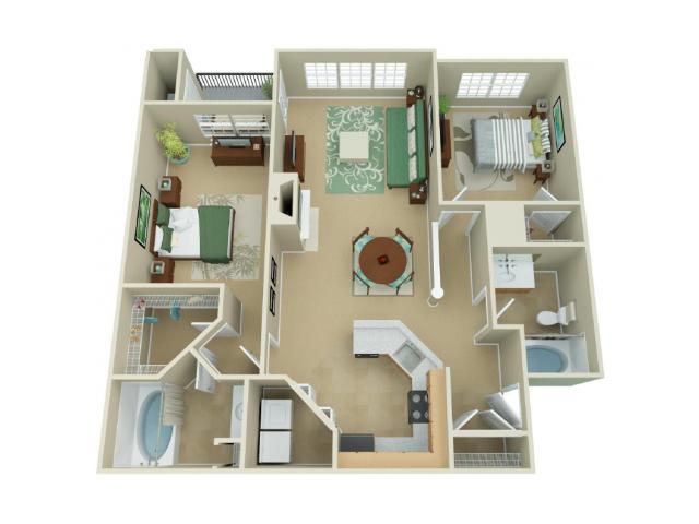 Madison - Two Bedroom Two Bathroom