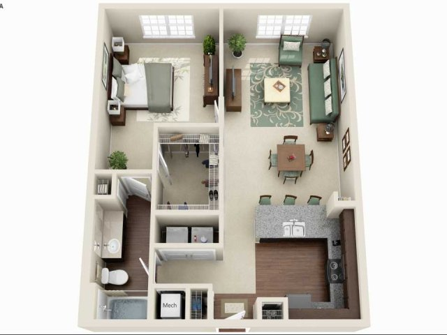 A3A - 1 BEDROOM 1 BATH