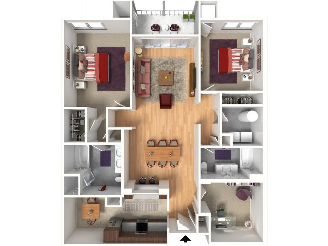 Two Bedroom Floorplan | Queens Gate 7