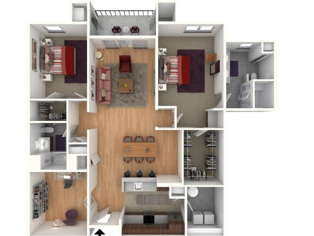 Durham- 2 Bedroom 2 Bathroom with Den