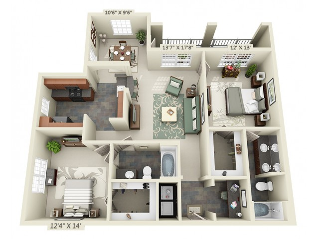 Floor Plan 7 | The Lodge at Lakecrest