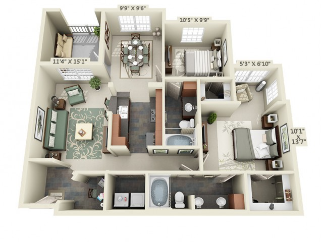 Floor Plan 9 | The Lodge at Lakecrest