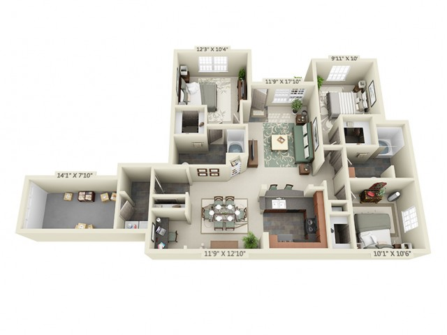 Floor Plan 11 | The Lodge at Lakecrest