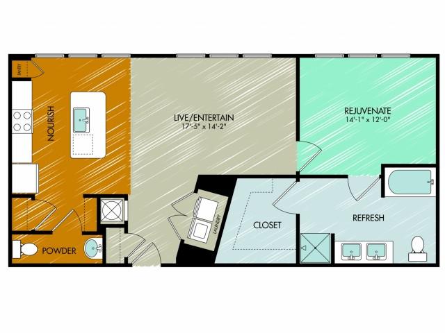 Floor Plan 15 | 909 Flats