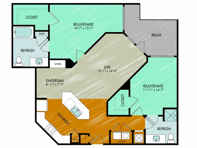 Floor Plan 23 | 909 Flats