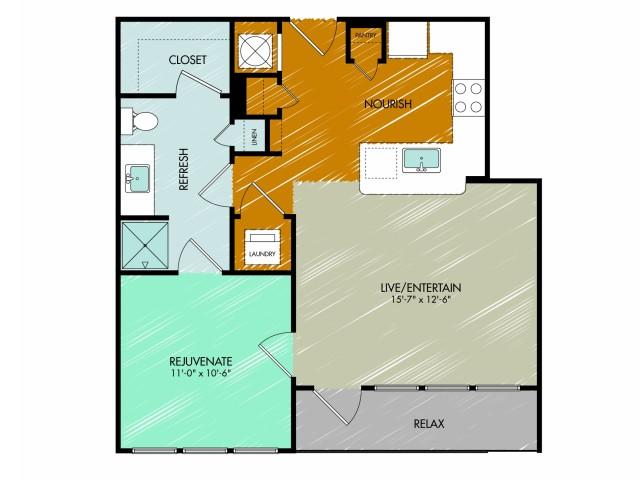Floor Plan 4 | 909 Flats