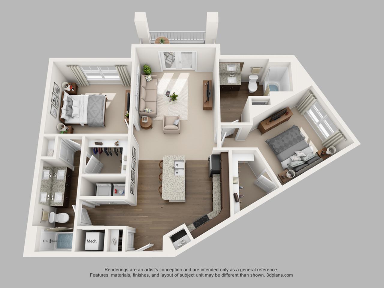 Floorplan 12 | The Haven at Atwater Village