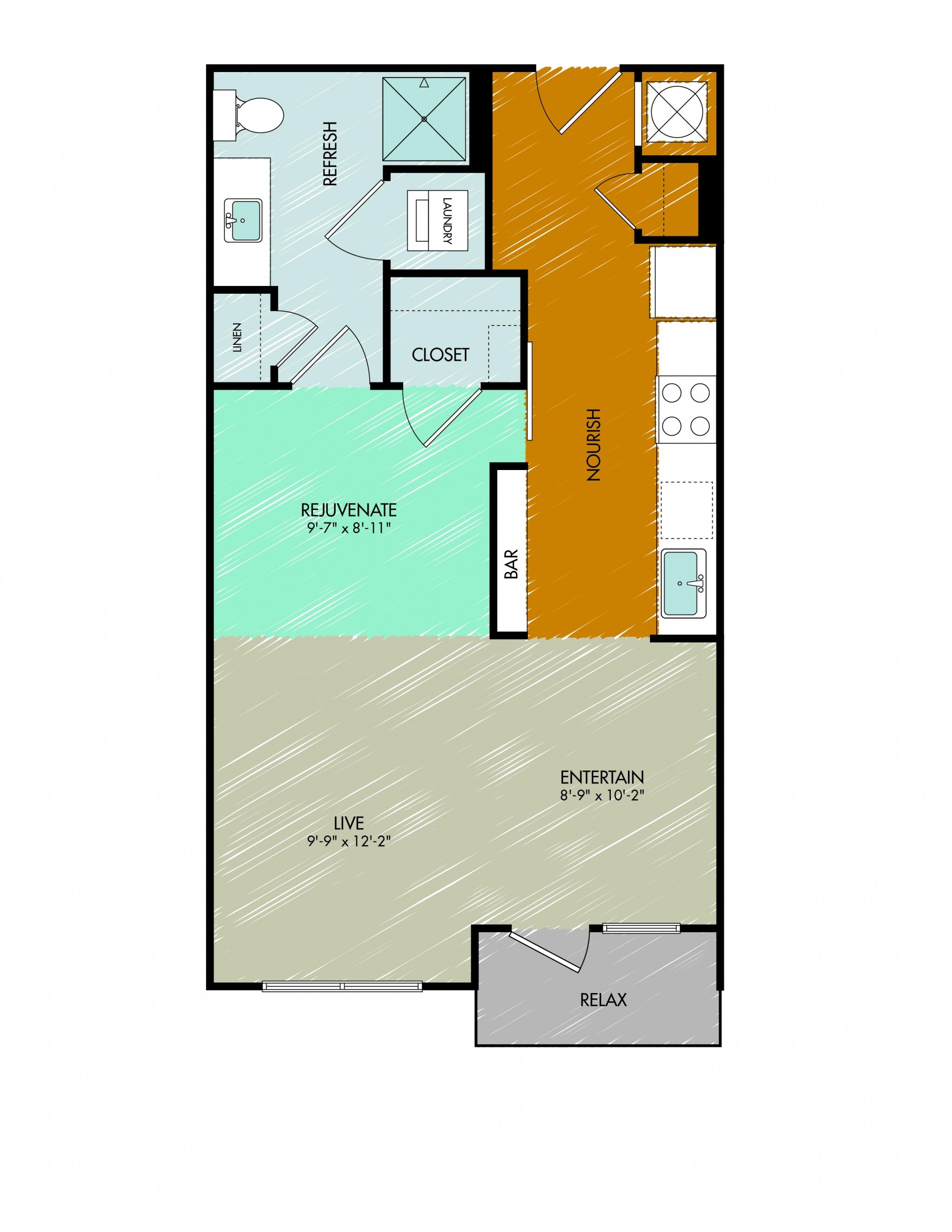 Floor Plan 1 | 909 Flats