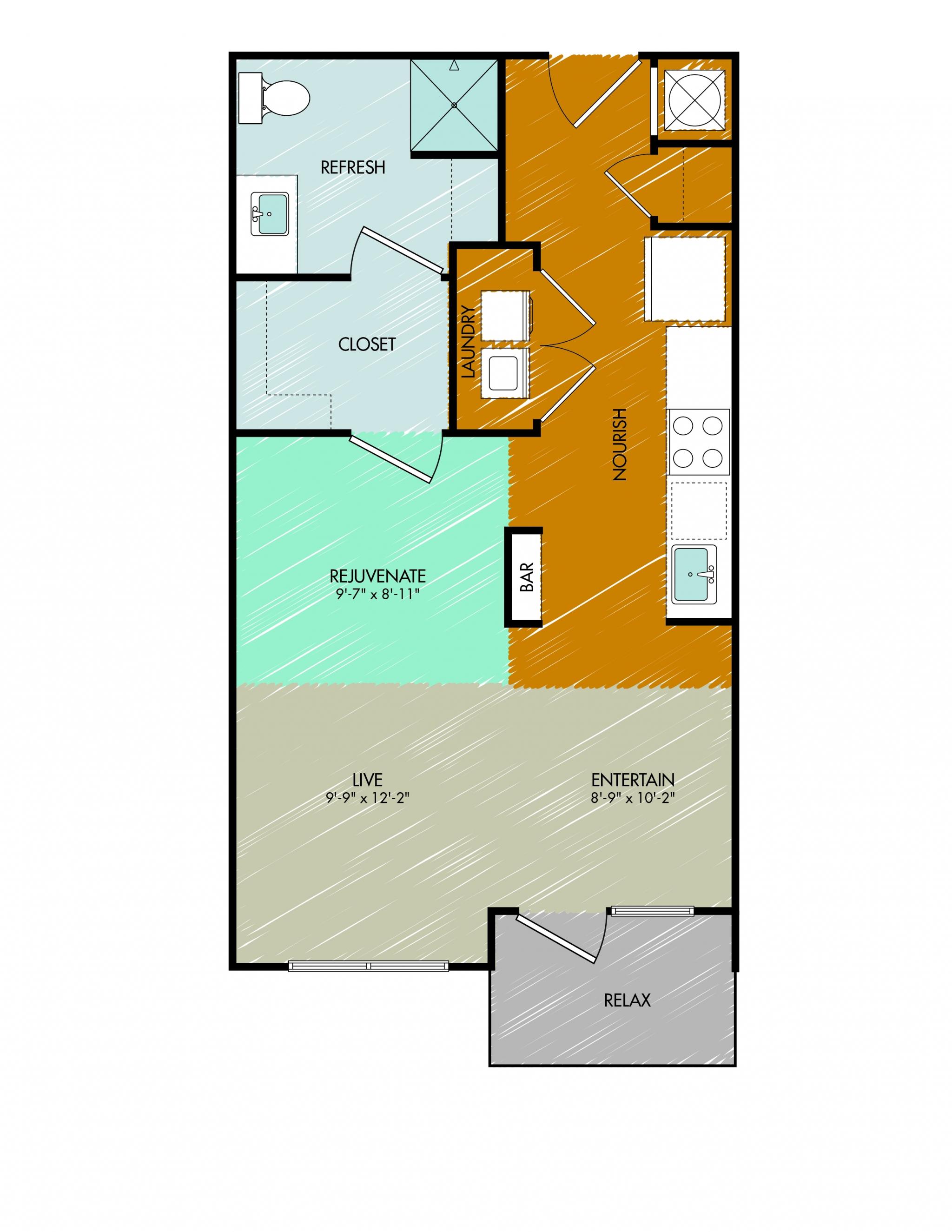 Floor Plan 3 | 909 Flats