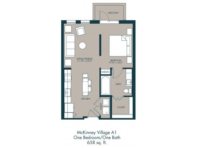 McKinney TX Apartments | Floor Plan