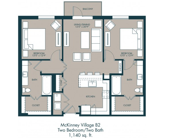 Apartments In McKinney Texas | Floor Plan 2