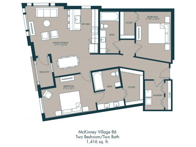 McKinney Park Apartments | Floor Plan 2