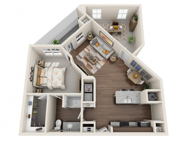 One Bedroom One Bathroom Apartments Kissimmee FL