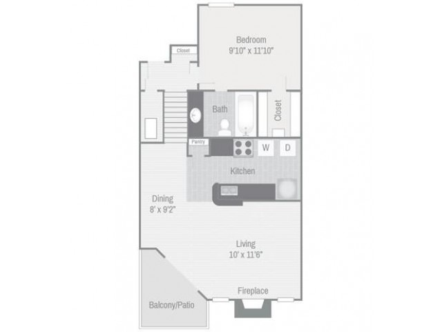 Floor Plan 2 | Nashville Apt | Bellevue West