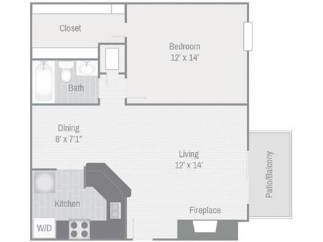 Floor Plan 3 | Nashville Apt | Bellevue West