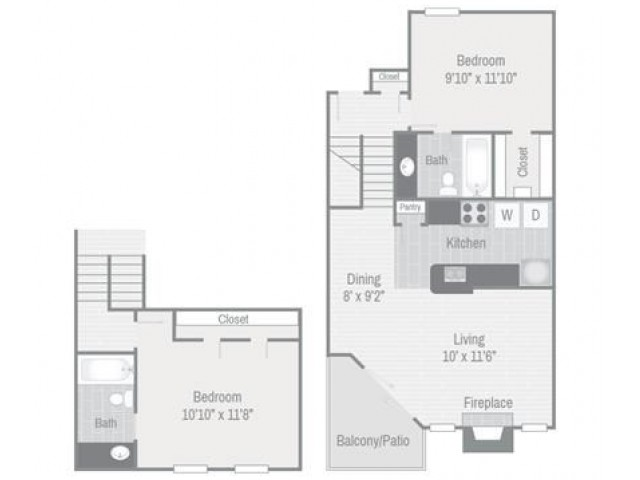 Floor Plan 5 | Nashville Apt | Bellevue West