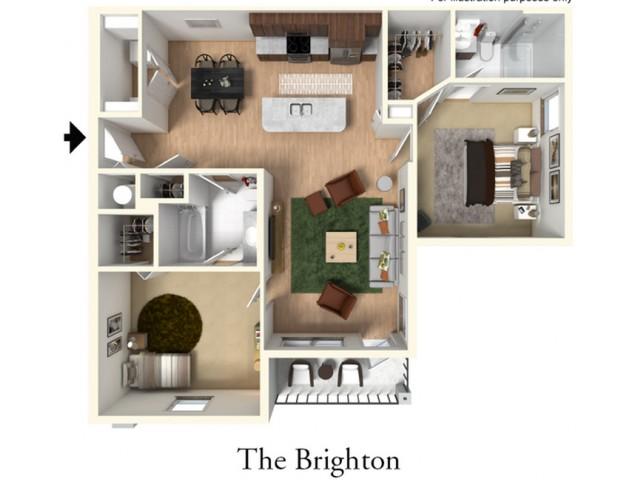 Two Bedroom Two Bath l Brighton Layout l High Ridge Landing