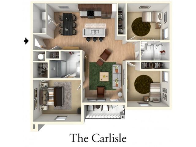 Three Bedroom Two Bath l Carlisle Layout l High Ridge Landing