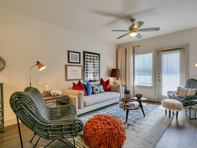 Luxurious Living Room   Apartment Homes in Dallas, TX   Alexan West Dallas