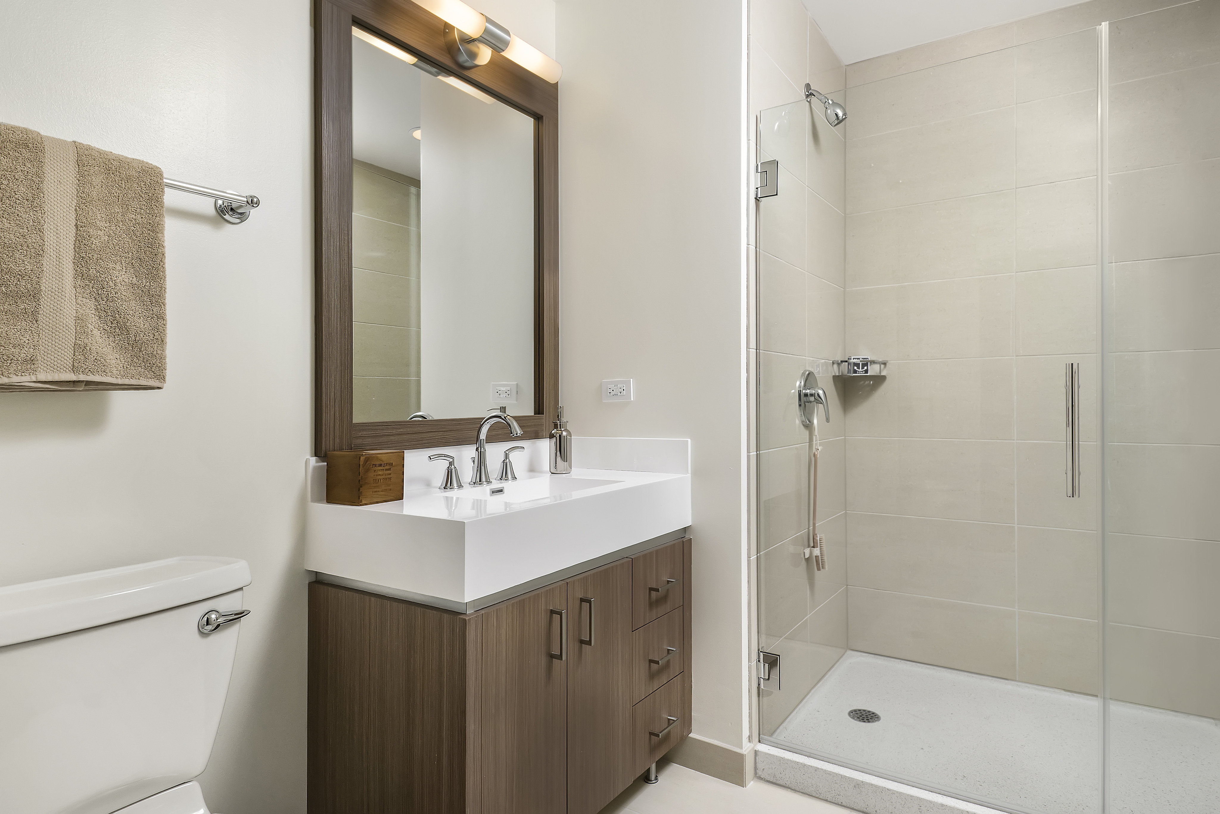 Image of Walk-in Showers in Select Units for North Water Apartments
