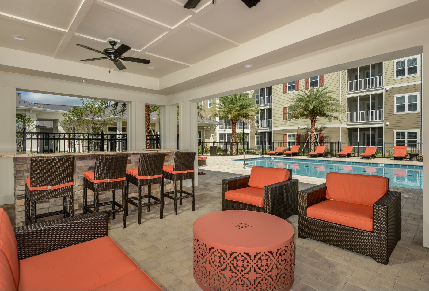 Monterey Pointe Pool Lounge Area