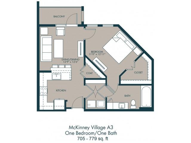 Soho Apartments McKinney | Floor Plan