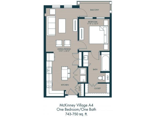 Apartments In Fairview TX | Floor Plan