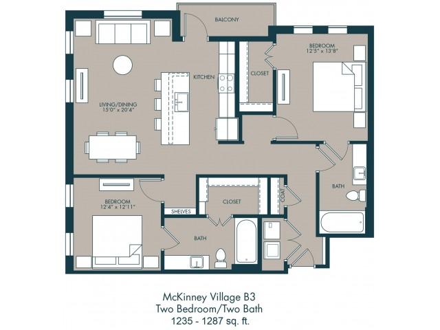 Apartments In McKinney | Floor Plan 2