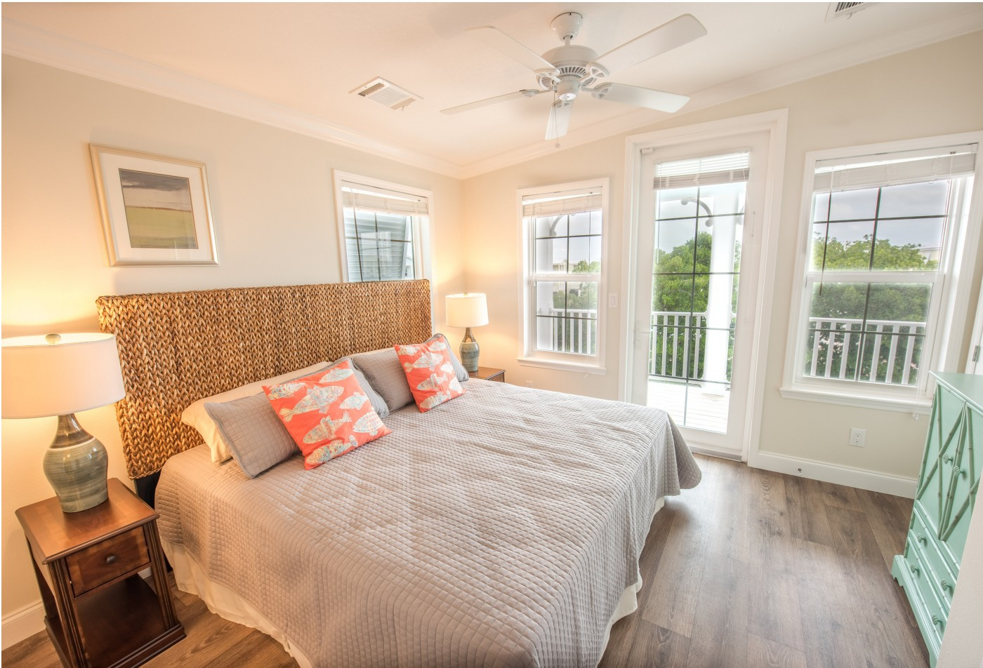 Huge Light and Airy Bedrooms with Ceiling Fans l Tarpon Harbour