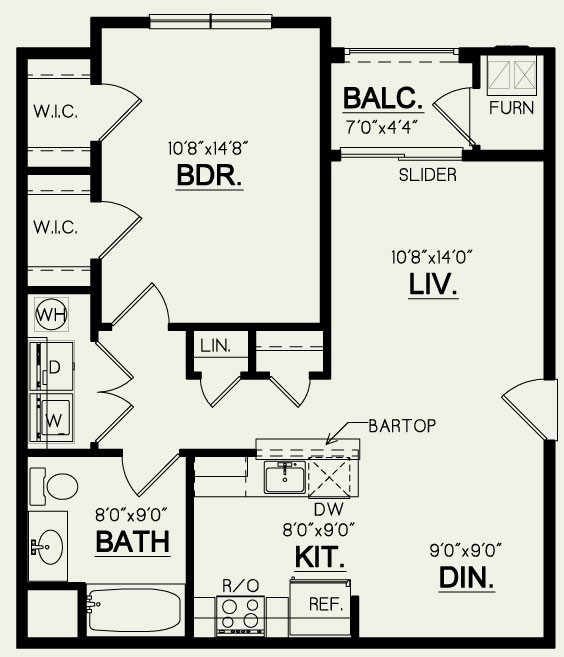 1 Bedroom- 1 Bath
