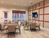 Resident Activity Lounge with TV l Monterey Pointe