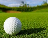 Image of a golf ball on a golf course l Monterey Pointe Apartments