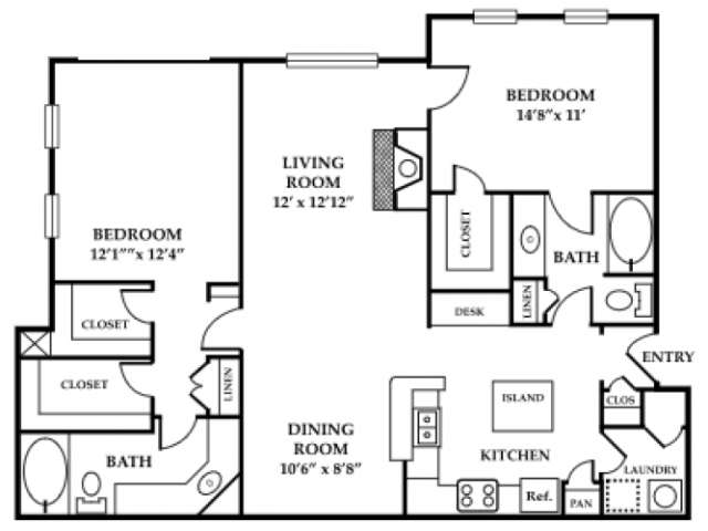 Two Bedroom Apartments | Apartments in Northlake | Apartments in Northlake GA | Northlake Apartments |