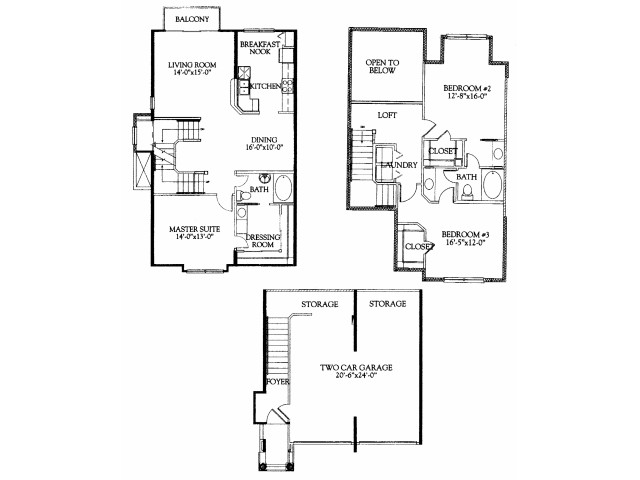 3BR/2BA with attached 2 car garage