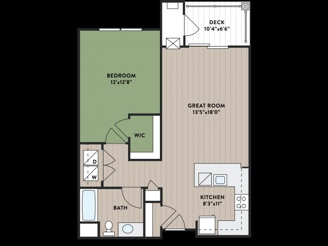 Hemlock - One Bedroom