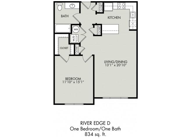 1 - 2 Bed Apartments | River Edge at Garfield