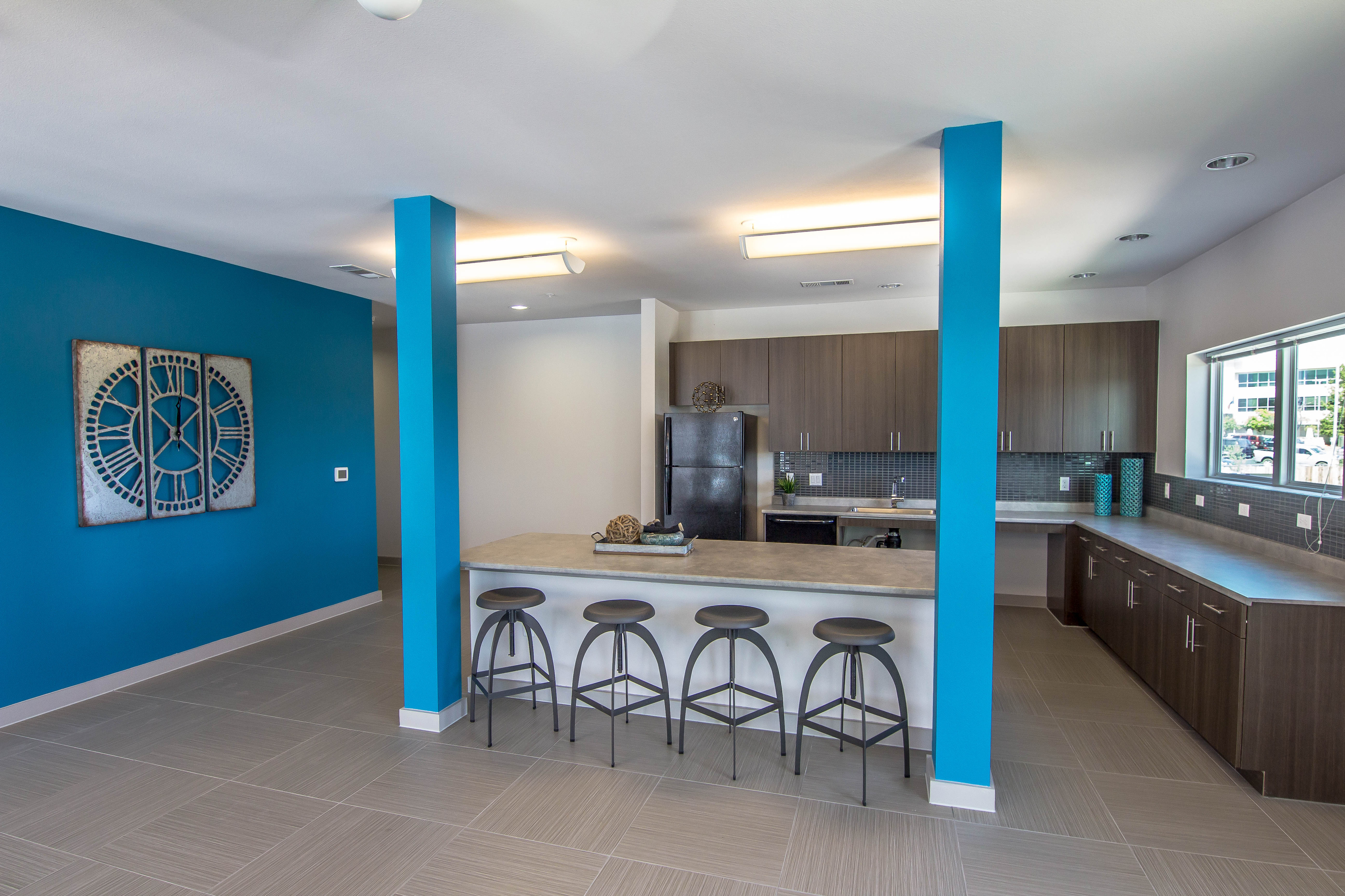 Image of Resident Lounge with Community Kitchen for The Reserve at Springdale