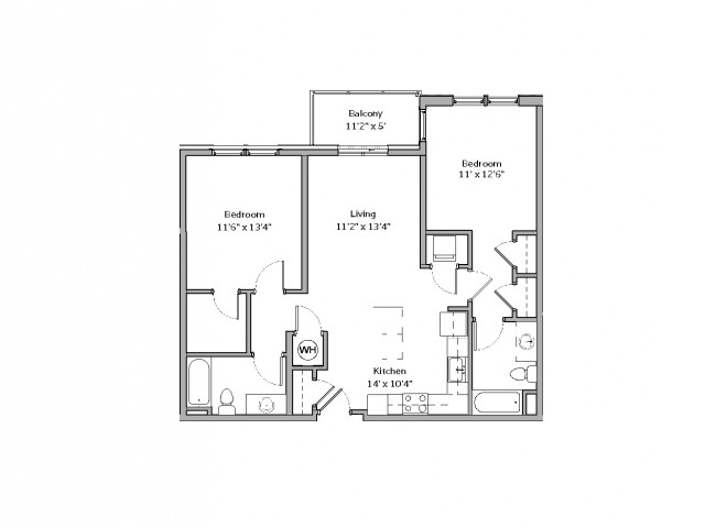 B11- TWO BEDROOM TWO BATH