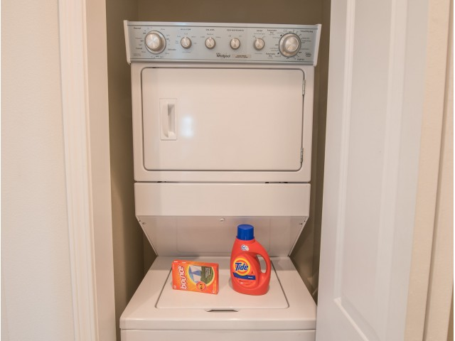 Stack-able washer and dryer