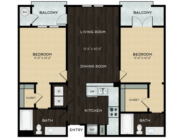 Two bedroom / two bathroom