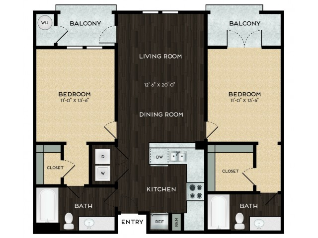 Two bedroom / two bathroom