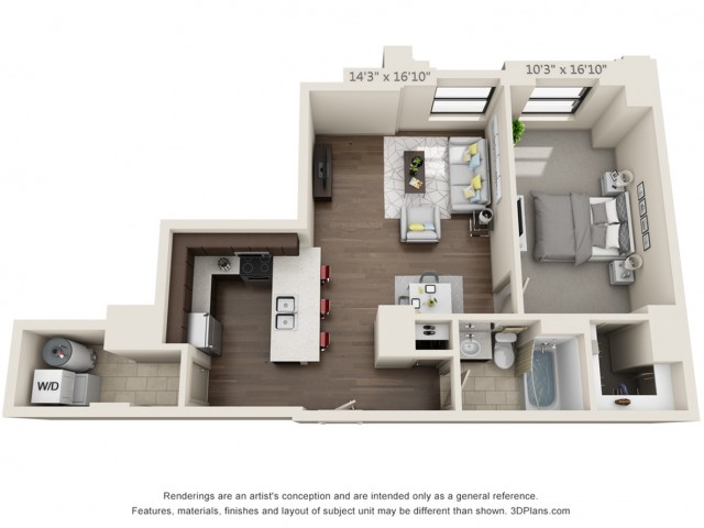 A08-ONE BEDROOM/ ONE BATHROOM- 781 Sq. Ft.
