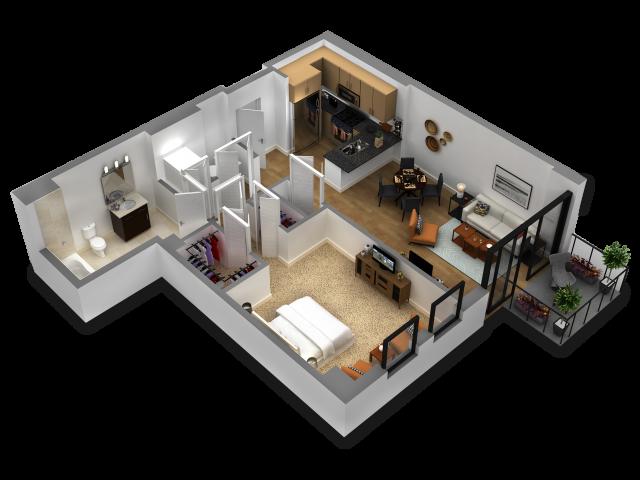 1 Bedroom Floor Plan B8