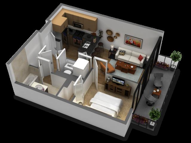 1 Bedroom Floor Plan B1