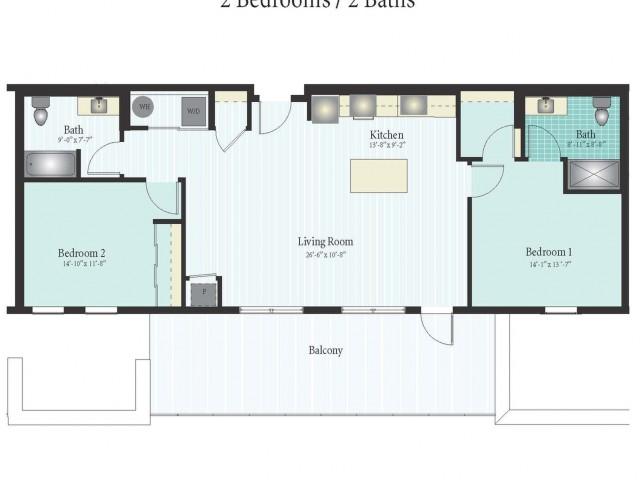 Floor Plan 52 | Glenview IL Apartments | Midtown Square